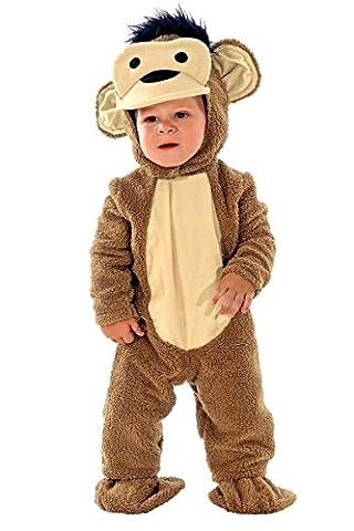 Affenkostüm Baby - Affe Plüschkostüm - Baby Kostüm Affe, Größe:92 (Kühle Halloween-kostüme 2016)