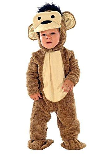 Premium Affen-Kostüm für Babys aus Plüsch | Hochwertiges Karnevals-Kostüm / Faschings-Kostüm / Babykostüm / Overall | Perfekte Affen Verkleidung für Karneval, Fasching, Fastnacht (Größe: (Affe Plüsch Kostüme)