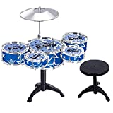 Happy GiftMart Jazz Drum Set with Chair - Music Toy Instrument for Kids