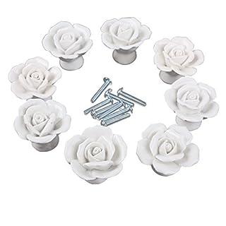 Fatalom Türknauf mit Blumenmuster, Vintage-Stil, Keramik, für Küchenschränke, Schubladenknöpfe und Griffe