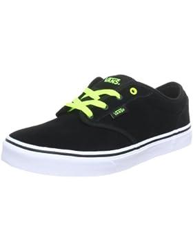 [Patrocinado]Vans Y ATWOOD (SUEDE) BLACK/N - Zapatillas de cuero infantil