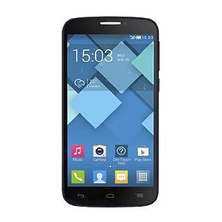 Alcatel One Touch Pop C7 7041D Smartphone (12,7 cm (5 Zoll) Touchscreen, 1,3GHz, Quad-Core, 4GB interner Speicher, 5 Megapixel Kamera, Android 4.2) bluish black