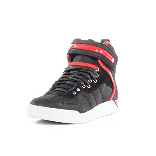 DIESEL - Baskets basses - Homme - Sneakers montantes noires lacets scratch semelle blanche S-Seyene pour homme
