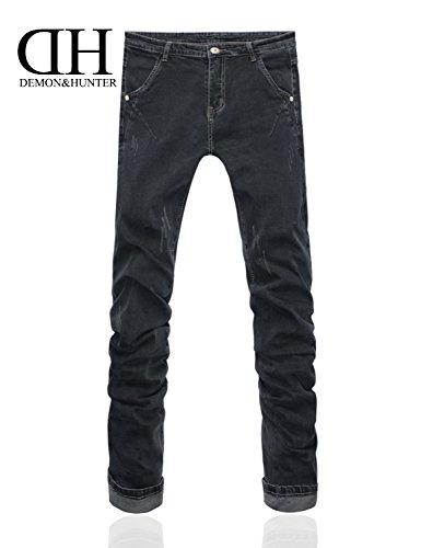 Demon&Hunter 808B Séries Pour des hommes Maigre Ample Mince Jeans DH8082