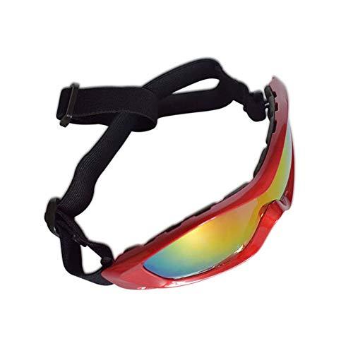 KOMNY UV-Schutz Sonnenbrillen Brillen Schutzbrillen mit verstellbarem Gurt Rot
