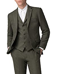 Racing Green Green Check Tailored Fit Blazer 0049638 by Suit Direct