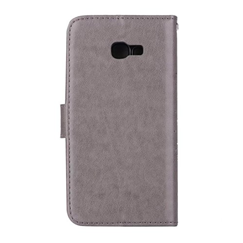 Abnehmbare 2 in 1 Crazy Horse Texture PU Ledertasche, Fairy Girl Embossed Pattern Flip Stand Case Tasche mit Lanyard & Card Cash Slots für Samsung Galaxy A5 2017 ( Color : Rosegold ) Gray