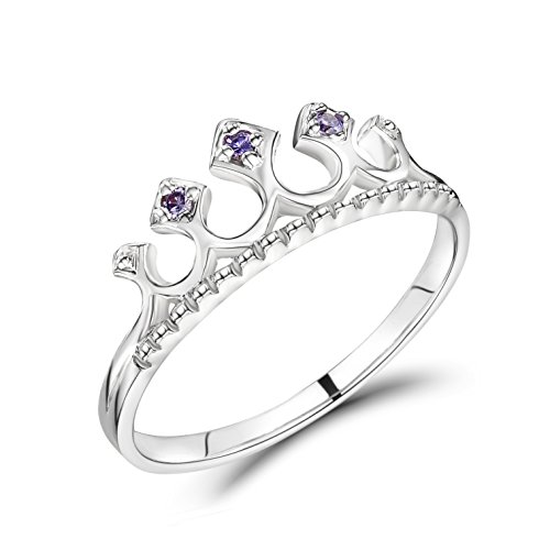 Jo for Girls Sterling Silver Princess Tiara Ring - Size L