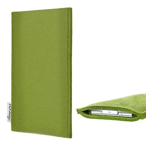flat.design Handy Hülle Porto für bea-fon SL820 Made in Germany Handytasche Filz Tasche Schutz Case hell-grün