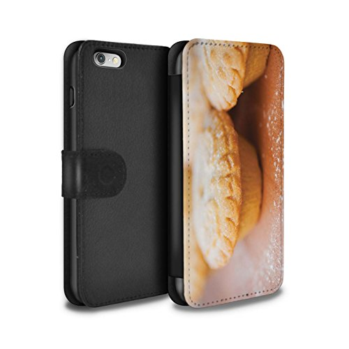 Stuff4 Coque/Etui/Housse Cuir PU Case/Cover pour Apple iPhone 6 / Desserts Chocolat Design / Nourriture de Noël Collection Tartelettes