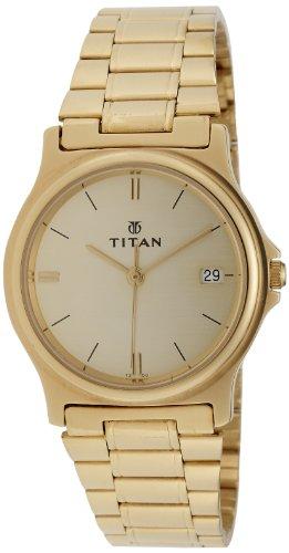 Titan Karishma Analog Champagne Dial Men's Watch - NE389YM07 image