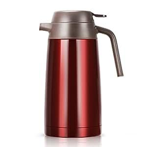 isolierkanne kaffeekannen edelstahl doppelwandig vakuumisoliert thermoskanne mit druckknopf. Black Bedroom Furniture Sets. Home Design Ideas