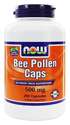 Now Foods, Blütenpollen Caps, 500 mg, 250 Kapseln