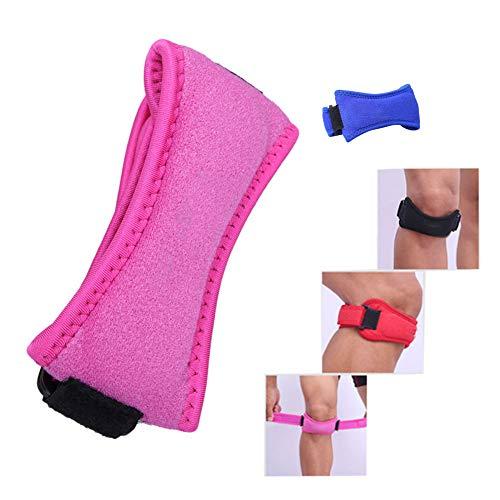 Beito 1pc Knee Strap Protect Rosa Anti-Rutsch-Knieschmerzen Druckentlastung Band Schmerzlinderung für Basketball Volleyball Laufwanderausrüstung Tennis usw. Sowohl für Männer und Frauen (Tennis Männer Volleyball)