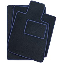 408ce14c9ee DGS Terciopelo se Adapta Auto Alfombras Azul Oscuro fahrzeugspezifisch  plástico alfombras felpudos Premiun Calidad