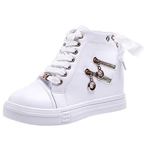 Damen High Top Hohe Sneaker,Freizeit Wedge Reißverschluss Knöchel Stiefel Schnürschuhe By Vovotrade (High-top Glitzer Sneaker)