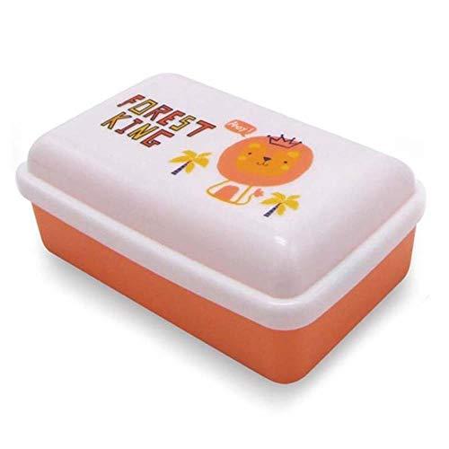Ldcp 3 pezzi/set scatole da cucina in plastica scatola da pranzo scatola a tenuta ermetica contenitore per alimenti contenitore per cereali a base di frutta con coperchio, set 3 in 1 arancione