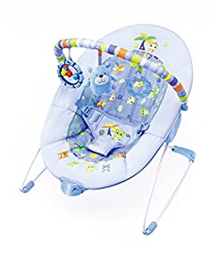 Cute Baby - New Vibration Bouncer Chair Sea Blue from cutebaby