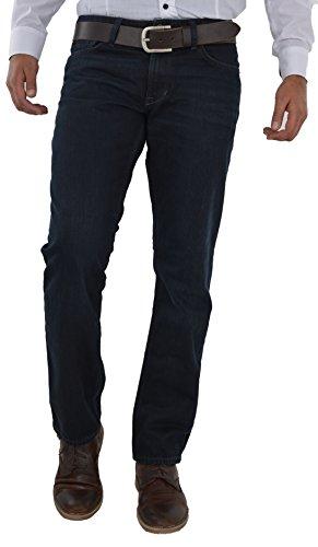 Herren Jeans Hose Straight Leg gerader Schnitt NEU Blue Petrol Jeanshose W30 bis W42 verfügbar (W33/L32, Dunkel Blau F1) (Jeans-hose Dunkle)