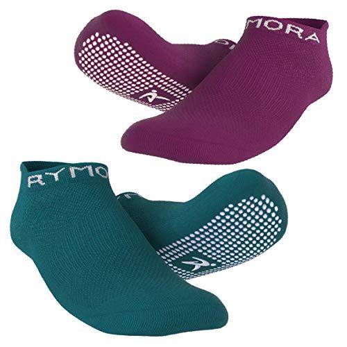 Rutschfeste Anti Skid Grip Socken (2Paar) (perfekt für Pilates, Yoga, Barre, Dance, Martial Arts, Trampolin, Fitness, Krankenhaus, Reha, Home & Body Balance)