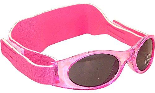 Sonnenbrille für Babys unter 2 Jahren - Sunnyz - Mit Kopfband! (rosa)