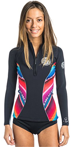 Rip Curl 2016 Ladies 1mm G-Bomb Long Sleeve Neo Jacket Black/Grey WVE4KW