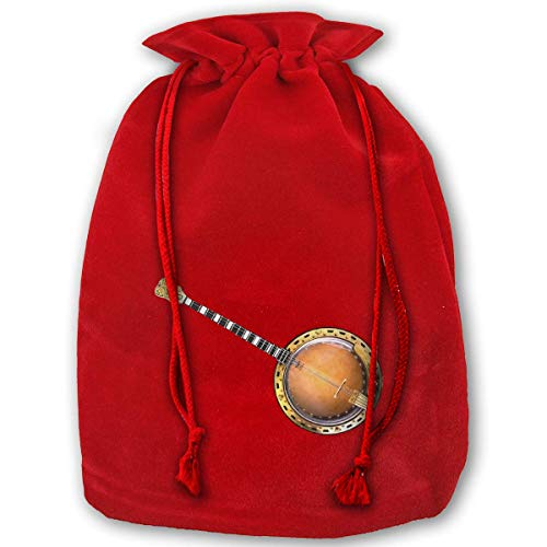 Christmas Gift Bags Banjo Gold Velvet Party Favors Grocery Wrapping Storage Bags for Kids