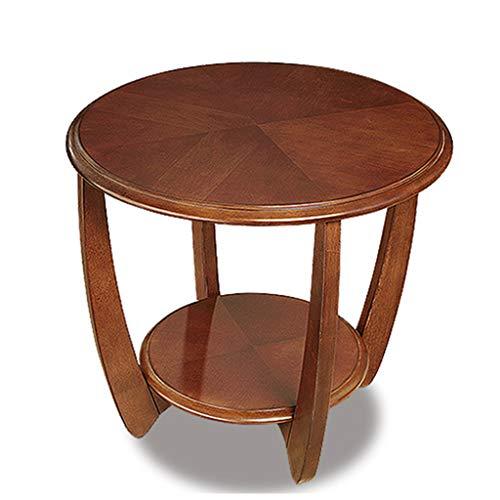ShXiXJ Tische Wohnzimmertisch Kleiner Beistelltisch Holz Rund Couchtisch Geeignet für Schlafzimmer und Balkon,Brown