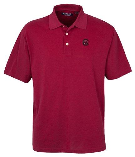 Oxford NCAA Herren Poloshirt South Carolina Kampfsport Gamecocks 3-Knöpfe mit gesäumten Ärmeln (Bordeaux, Small) - South Carolina Rot Shirts