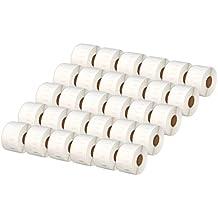 30x Dymo Seiko 99012 36 x 89 mm Rollos de Etiquetas adhesivas (260 Etiquetas por Rollo) compatibles para Dymo LabelWriter 310, 320, 330, 330 Turbo, 400, 400 Turbo, 400 Twin Turbo, 400 Duo, 450, 450 Turbo, 450 Twin Turbo, 450 Duo, 4XL, EL40, EL60, Seiko SLP 100, 120, 200, 220, 240, 400, 410, 420, 430, 440, 450, Pro, Plus Impresoras de etiquetas