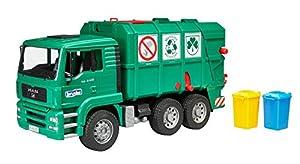 Desconocido Bruder 02753  - Man camión de Basura Verde
