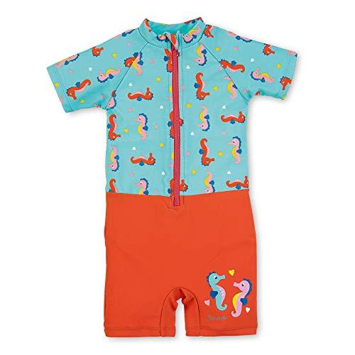 Sterntaler Kinder Mädchen Schwimmanzug, Einteiler, UV-Schutz 50+, Alter: 4-6 Jahren, Größe: 110/116, Meeresblau