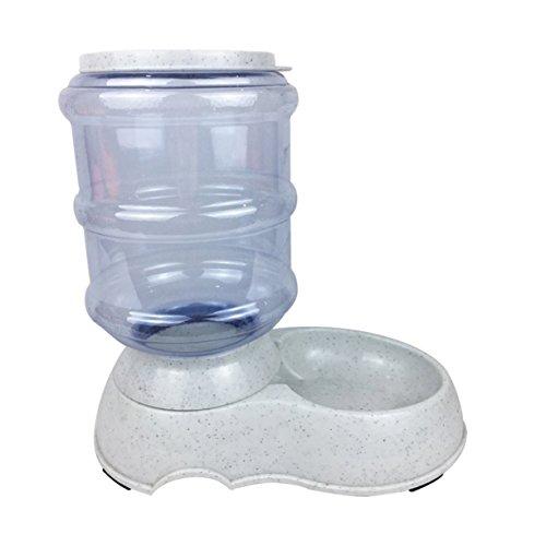 Alimentador automático de mascotas de 3.5L, Contenedor dispensador de alimentos secos para perros, Bomba automática para fuentes de agua para mascotas, Dispensador de alimentos para perros y gatos, Dispensador de fuentes para mascotas para gatos y perros