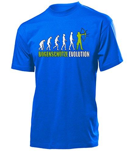 BOGENSCHÜTZE EVOLUTION 573 Herren T-Shirt (H-B-Weiss-Grün) Gr. L