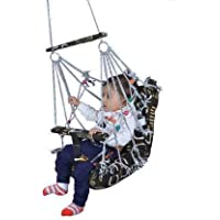 SunRex Cotton Swing for Kids Baby's Children Folding and Washable 1 to 8 Years with Safety Belt - Home,Jhula for Babies (MULTICOLOR)