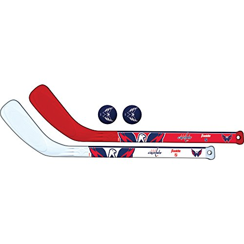 Franklin Sports NHL Team Mini-Hockeyschläger-Set, 2-teilig, Unisex-Erwachsene, rot, Small Mini-team-jersey