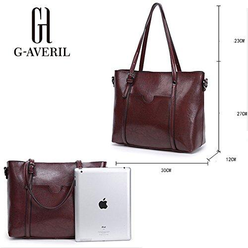 G-AVERIL, Borsa a mano donna Red Wine Brown