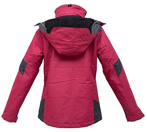 Deproc Active Damen Outdoorjacke und Winterjacke Rokky Rot (Darkred 190)