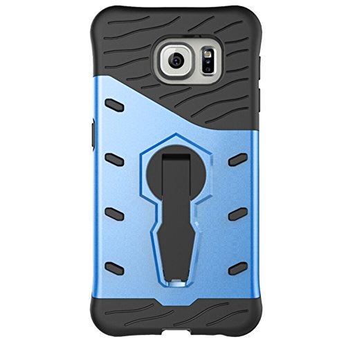 Für Samsung Galaxy S7 Edge Case Tough Hybrid Heavy Duty Schock Proof Defender Cover Dual Layer Armor Combo Mit 360 ° Swivel Stand Schutzhülle Fall ( Color : Blue ) Blue