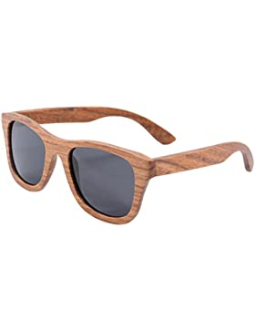 SHINU Polarizadas Gafas de Madera de Bambú Gafas de Sol Lentes de Madera Vintage y Espejos de Anteojos Gafas de...