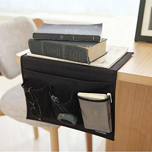 LANGING 1 Stück Nachttisch Organizer Sofa Bett Hängende Aufbewahrungstasche Halter Tasche Etui Etui 4 Taschen (Platz Etui 4 Iphone)
