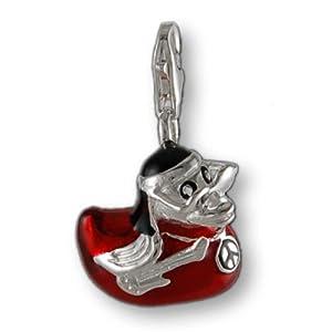 Melina Damen-Charm Anhänger coole hippie Ente 925 Sterling Silber 1801326
