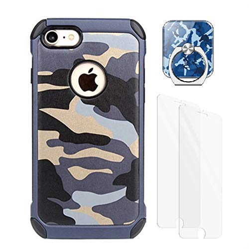 VELLYOU 3-en-1 Funda iPhone 7 Plus Camuflaje