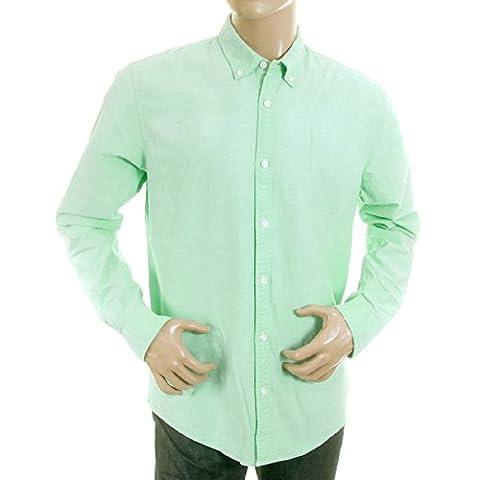 Scotch & Soda mens pastel green 1201 00 20006 faded oxford shirt SCOT0394