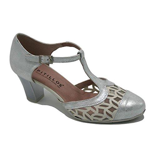 PITILLOS, Sandali donna argento Size: 39