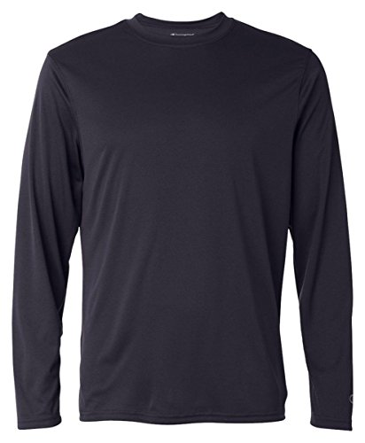 Herren Double Dry Performance Langarm T-Shirt, Navy, Medium (T-shirt Double Dry Performance)