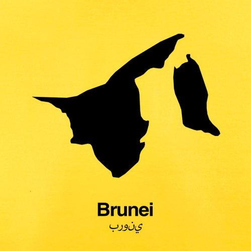 Brunei Silhouette - Herren T-Shirt - 13 Farben Gelb