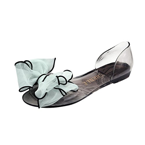 fa8b66a7c0fd Women s Summer Shoes OverDose Sweet Bowknot Women Sandals Jelly Shoes  Transparent Crystal Flats Casual Beach Ladies