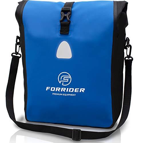 Forrider Fahrradtasche Wasserdicht für Gepäckträger [25L Volumen] mit Schultergurt | Gepäckträgertasche Fahrrad EINZELTASCHE Packtasche hält an jedem Gepäckträger
