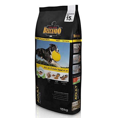 Belcando Adult Active [15 kg Hundefutter | Trockenfutter für aktive Hunde & Sporthunde | Alleinfuttermittel für ausgewachsene Hunde ab 1 Jahr